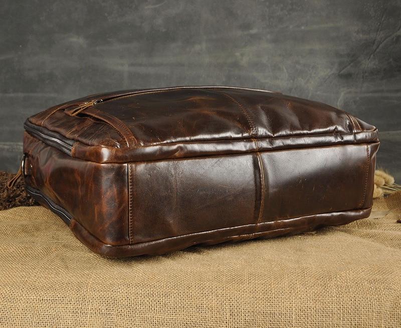 HTB1ivyia6zuK1RjSspeq6ziHVXac Men Oil Waxy Leather Antique Design Business Briefcase Laptop Document Case Fashion Attache Messenger Bag Tote Portfolio 7146
