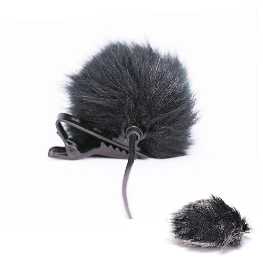 Dark Grey Artificial Fur Microphone Consumer Electronics Microphones