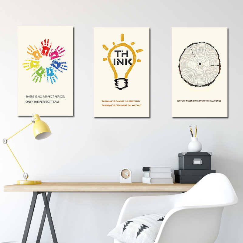Newbility Modern Realist Simple Posters Study Inspiring Painting Office Decoration Creative Corporate Culture Wall Canvas Prints