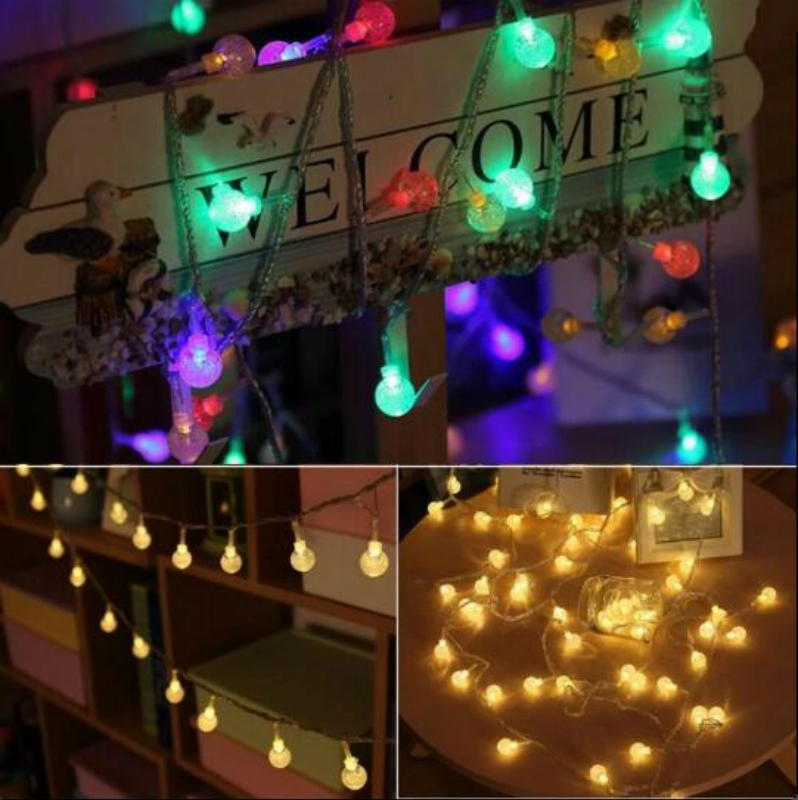 32.8ft Crystal Bubble Balls 8 Modes Fairy Flash String Lights for Wedding Christmas Party Holiday waterproof outdoor indoor