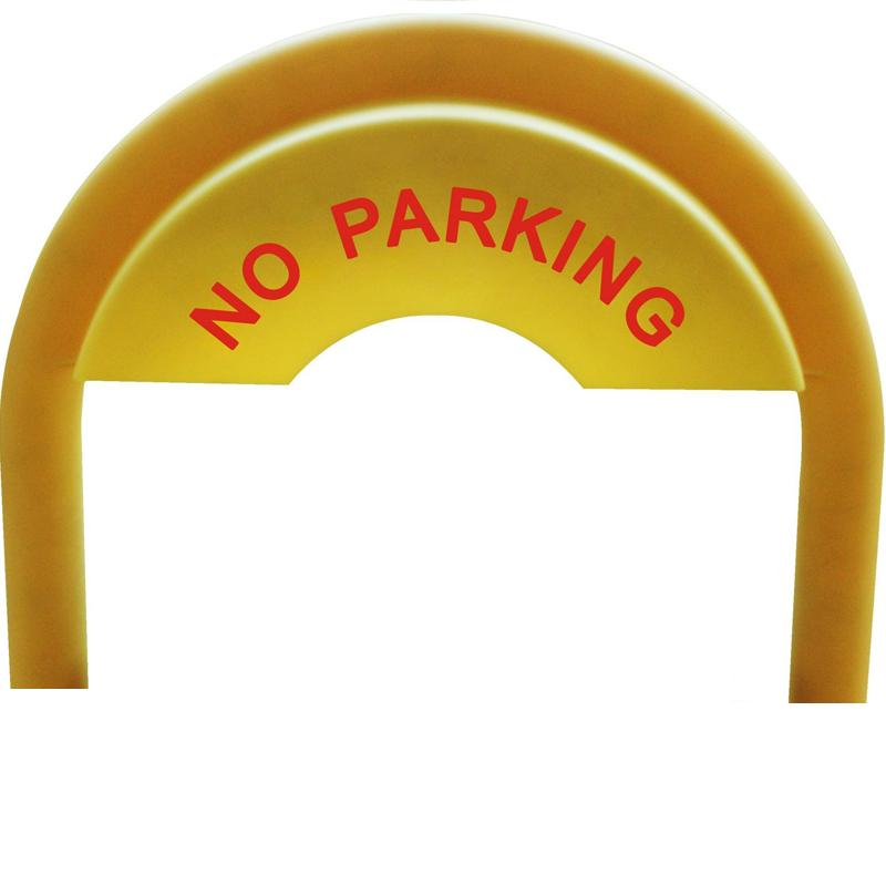 """The Sign of """"no parking"""" yellow frame parts for parking barrier