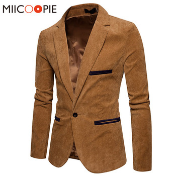 Men Business One Button Slim Fit Blazers