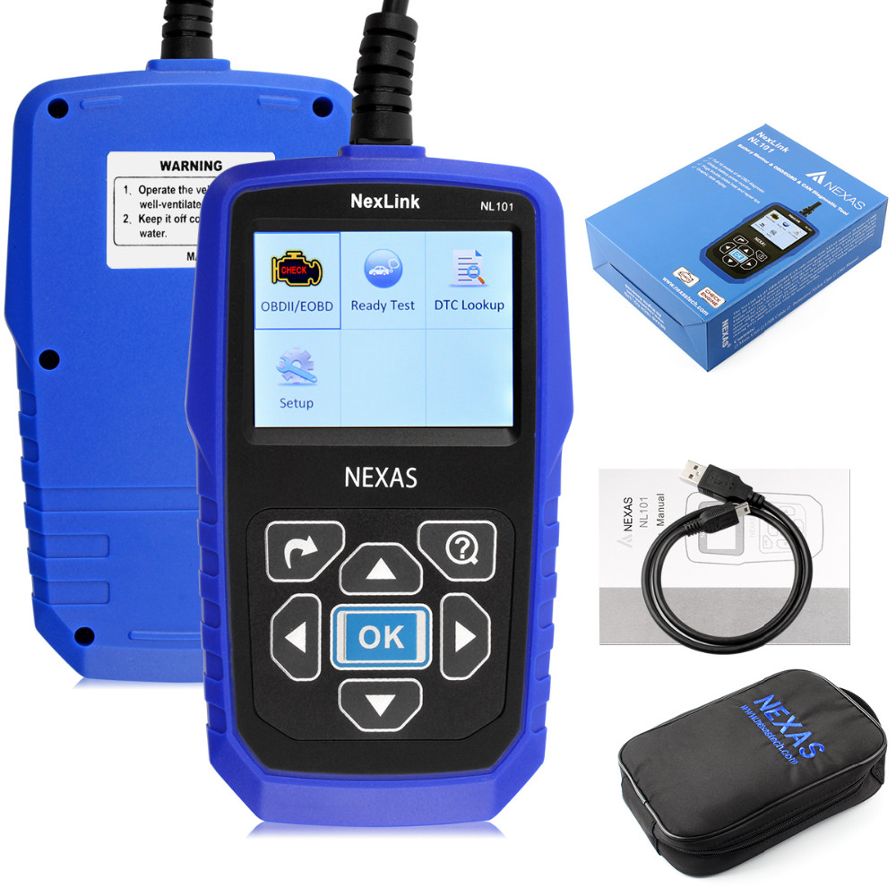 ФОТО hot sale With Battery Power Monitoring Scanner Automotive obd2 diagnostic-tool obdii Nexlink NL101 Auto OBD2  Diagnostic Tool