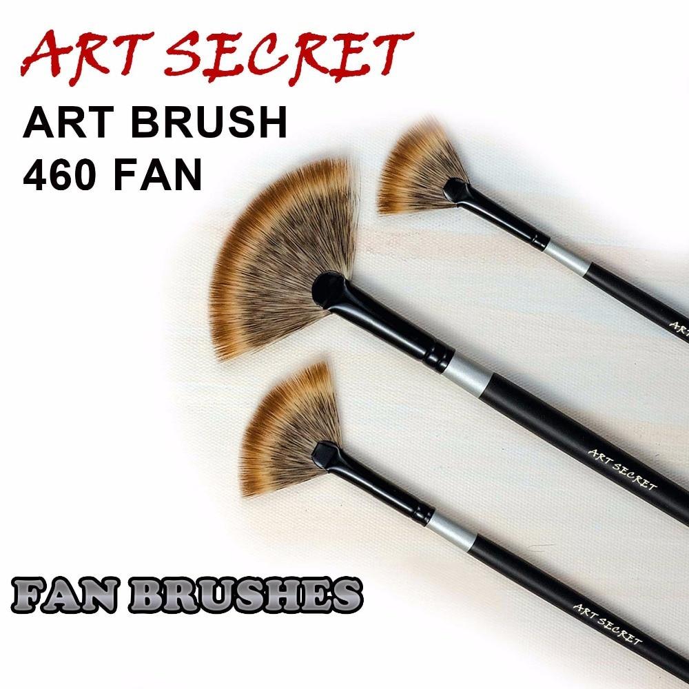 460 FAN High Quality Korea Importing Mangoolon Taklon Hair Long Wooden Handle Paint Art Supplies Artist Watercolor Brush