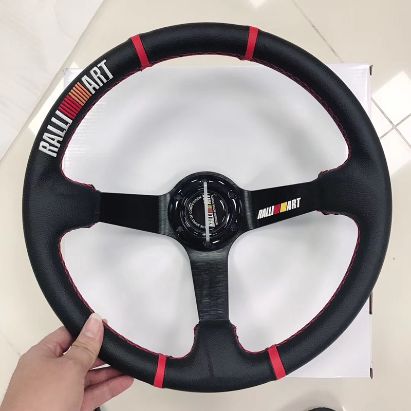 Car sports steering wheel / racing leather 14 inch steering wheel / universal personality steering wheel