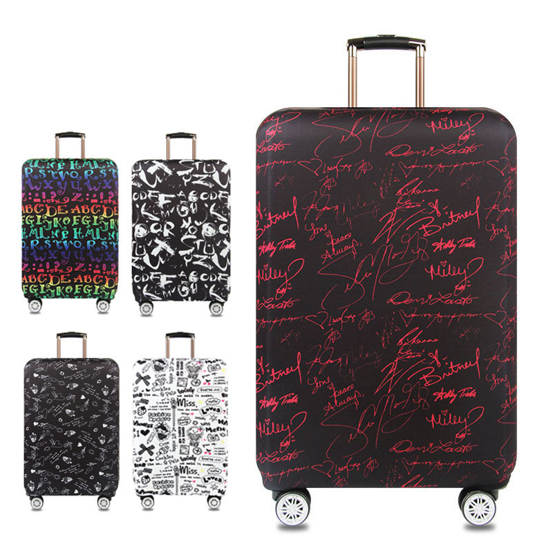 HKOTIIK suitcase elastic protective cover luggage cover travel accessories 18 to 32 inch travel trolley suitcase case dust cover