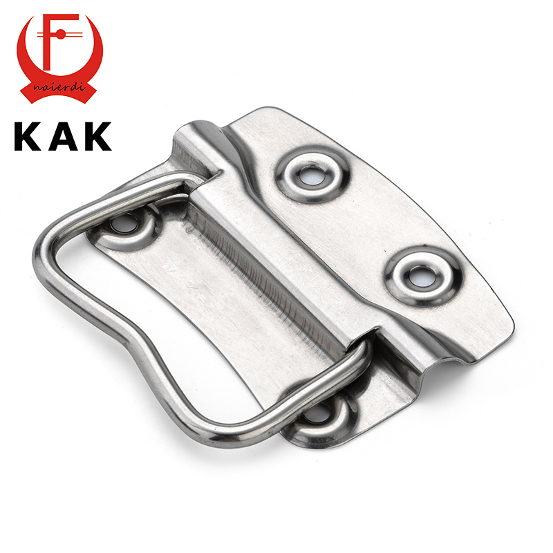 KAK-J203 Cabinet Handle Wooden Case Knobs Tool Boxes Stainless Steel Handles Kitchen Drawer Pull For Furniture Hardware new 2pcs lot 304 stainless steel handles hidden recessed invisible pull fire proof door handles cabinet knobs furniture hardware
