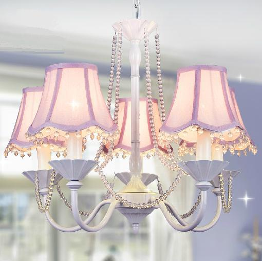 6 Korean princess room white living room chandelier crystal chandelier lamp bedroom lamp idyllic children's room chandelier girl korean princess wrought lamp iron bedroom led lamp american pastoral style living room children chandelier