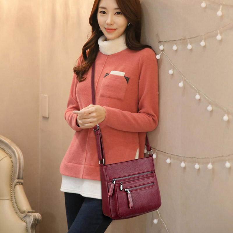 2018 Hot Women Handbags Famous Brands Women Shoulder Crossbody Bag High Quality Leather Women Bag Handbags Lady Messenger Bag in Shoulder Bags from Luggage Bags