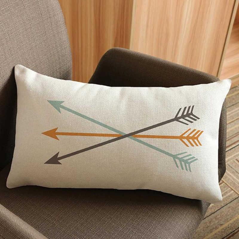 Creative Arrow Printed Pillowcases 8*8cm Hotel Bedding Decorative Pillow  Sham Single Pillow Cover Bedclothes EJ8