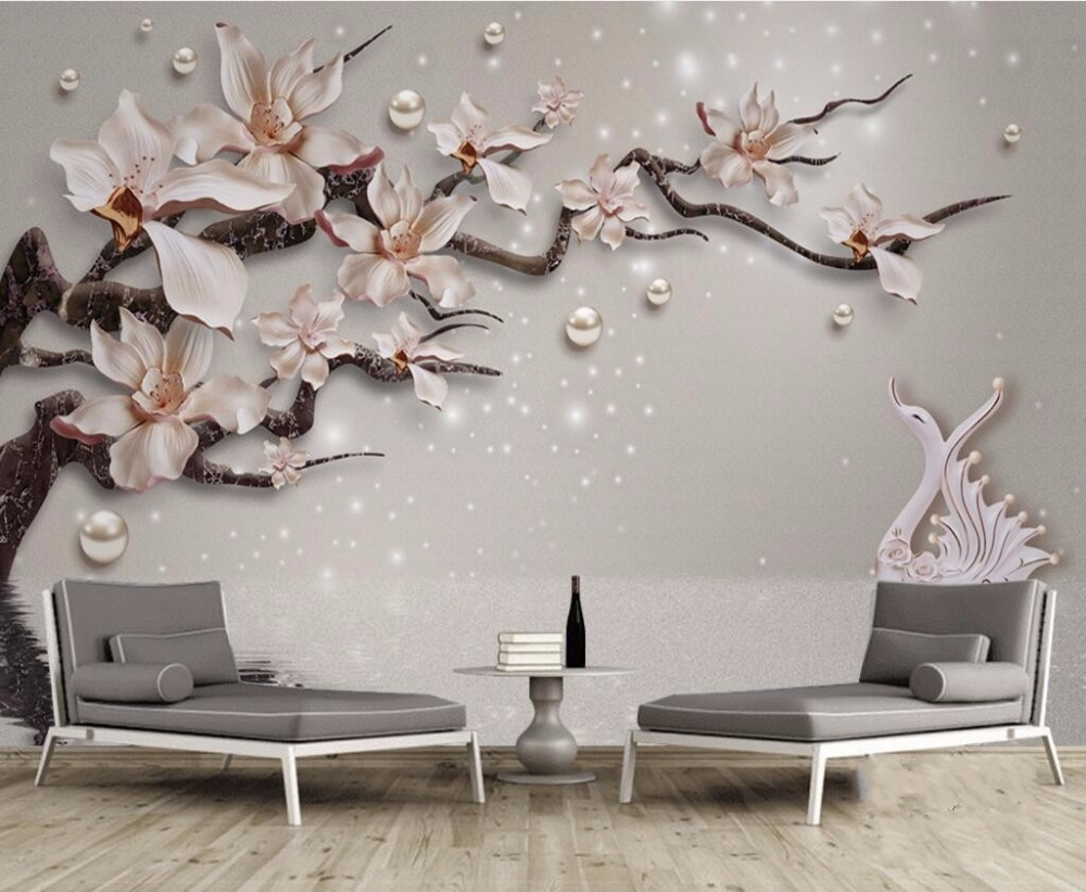 Beibehang Sob Encomenda Da Foto Papel De Parede Mural Adesivos De  -> Adesivo De Parede Estetica