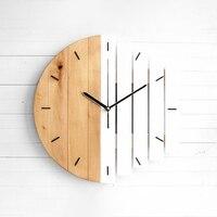 Relógio de parede de madeira design moderno do vintage rústico relógio de arte tranquila para o escritório hom sala arte da parede decoração casa