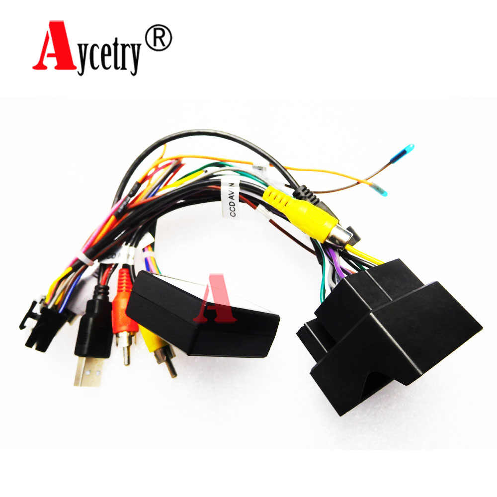 Aycetry! zaawansowana pole Canbus/kabel adapter dla Volkswagen/VW/Golf 7/Skoda/SEAT radio samochodowe z gps-em multimedialny odtwarzacz z Aycetry fabryki