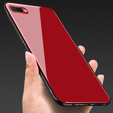 OPPOK1 Tempered Glass Case for OPPO K1 Hard Back Cover Soft Silicone Bumper For