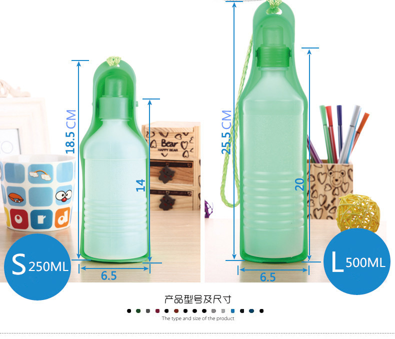Gratis forsendelse Ny Brand 250ML & 500ML Hot Sælg Portable Feeding - Pet produkter - Foto 3