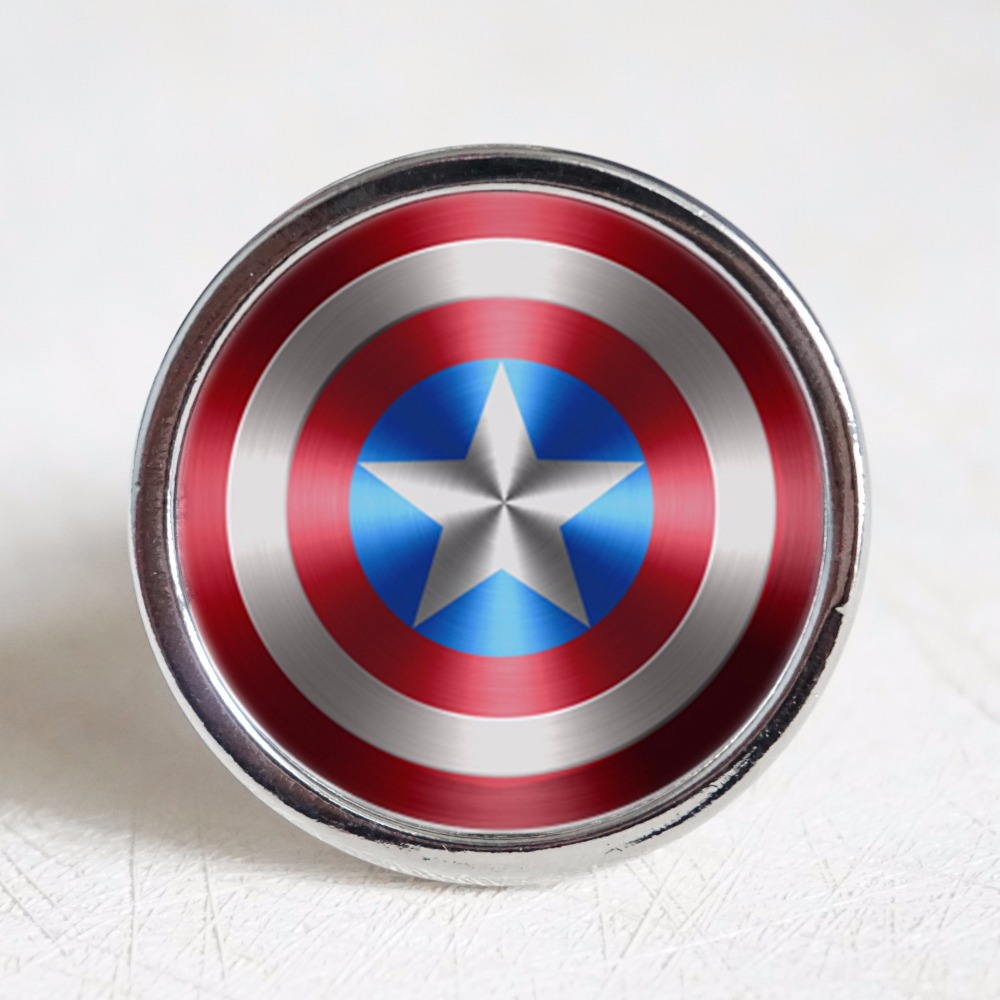Captain America  Drawer Knobs Vintage Style DIY Knobs Copper Sliver Bronze Modern Funiture Door Cabinet Handles Hardware 200pcs 18 15mm hinge brass bronze color flat wholesale small hardware for wooden box case cabinet drawer door funiture fix