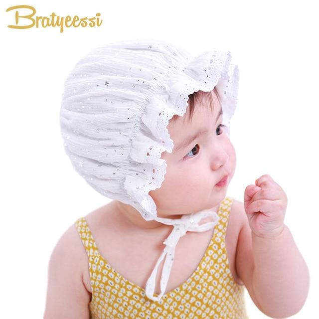 Princesse Nouveau-Né Bébé Fille Chapeau Dentelle Mousseux Étoiles Bébé  Bonnet Enfant D été 0102f794513