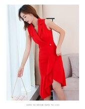 Office Dress Summer Vestidos Blazer Women Long Plus Size Dresses Black De Festa Korean Red Femme Girl Clothing
