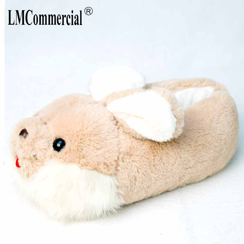 rabbit Cotton Plush Special Indoor Soft Shoes Men&Women Slippers custom Slipper Cottoon Slipper floor lovers shoes Winter Warm цена 2017