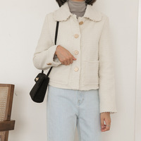 New Lapel Single Breasted Jacket Jacket White Top Fashion Retro