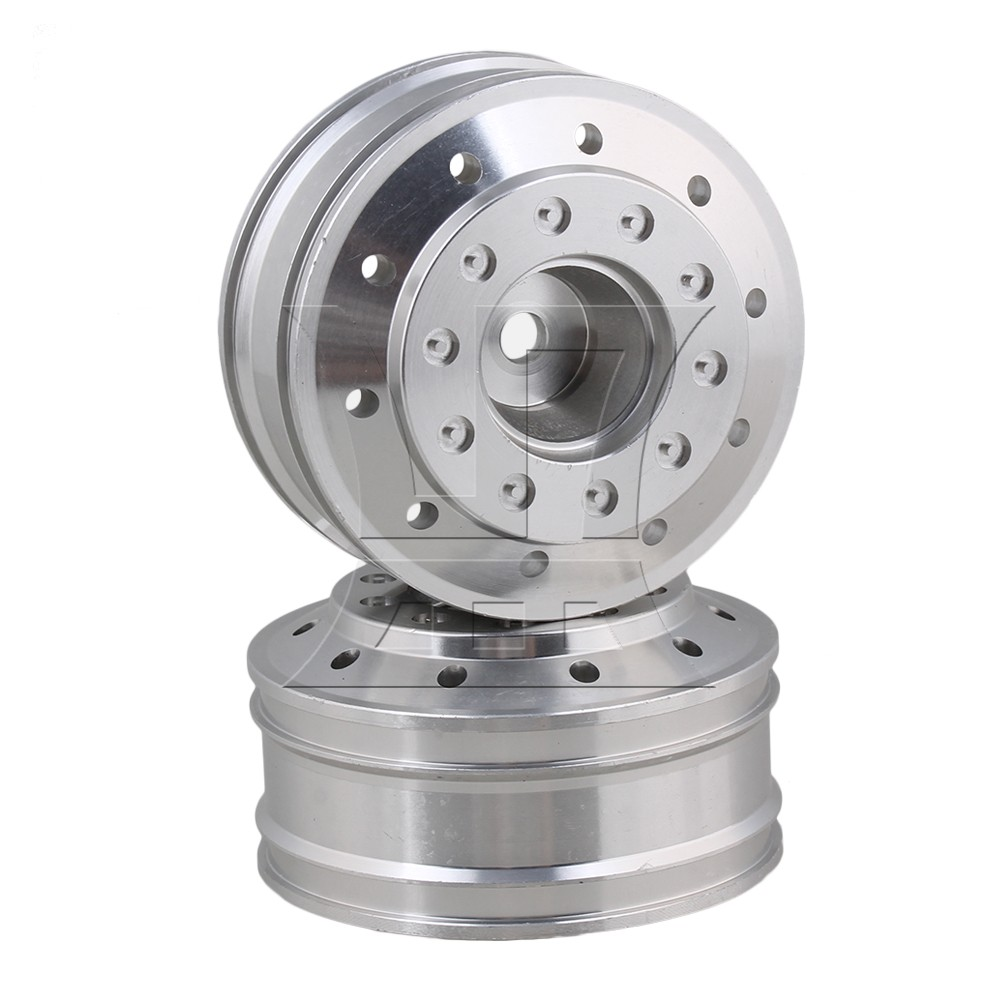 Mxfans 47x20mm Silver 50010 Aluminium Alloy Front Wheel Rims For Tamiya Rc1:14 Car Pack Of 2 Invigorating Blood Circulation And Stopping Pains Remote Control Toys