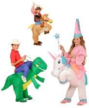 Navidad Traje Del Carnaval Disfraces de Animales Dinosaurio Inflable Vaquero Traje Unicornio Purim de Halloween del Día de Los Niños para Los Niños(China (Mainland))