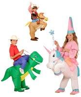 Kids Toy Animal Costumes Inflatable Dinosaur Cowboy Unicorn Costume Children S Day Purim Halloween Party