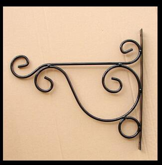 Free Shippping 1pc White Black Wrought Iron Garden Hook Flower Pots