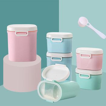 1PC niemowlęta pojemne mleko w proszku pojemnik nowonarodzone chłopcy i dziewczęta przenośna formuła pojemnik z podajnikiem żywności niemowlęta zaplombowane pudełko tanie i dobre opinie Dzieci Skrzynki i pojemniki Żywności Dwa-kraty Lateksu Nitrosamine darmo Ftalanów BPA za darmo Patchwork HD30256 0-3 M