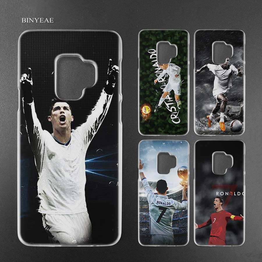 BINYEAE cr7 cristiano ronaldo soccer Transparent Case Cover Shell for Samsung Galaxy S9 S8 Plus S7 Edge A8 2018
