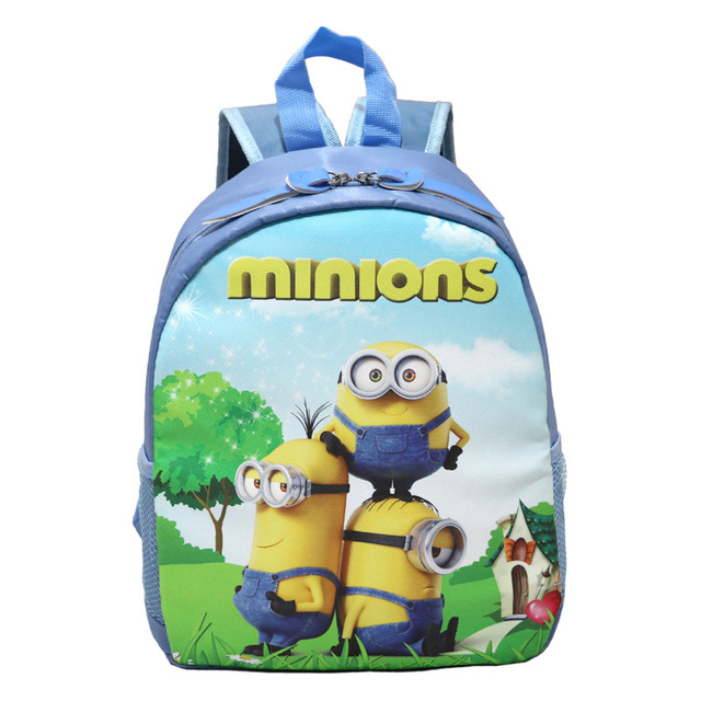 Boys Zootopiab Cartoon Sky Blue School Bags Kindergarten Children Jordan Backpack Minions Kids Bookbags Primary
