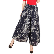 Women Floral Printed Wide leg Pants 2017 Summer Casual High
