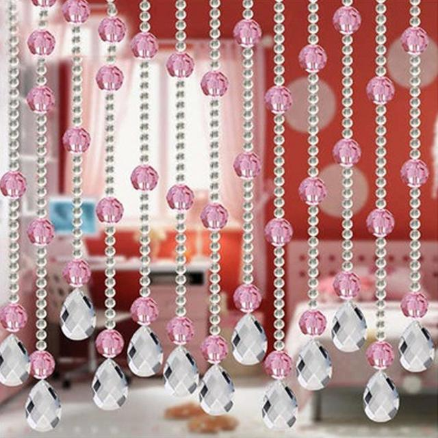 9 Colors 100CM Imitated Crystals Beads String Curtain Window DIY ...