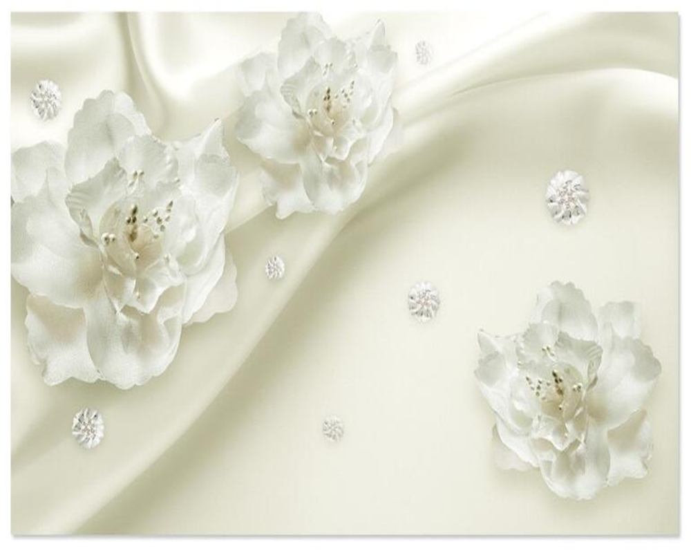 Купить с кэшбэком Beibehang Beautiful light gray silk flowers European style 3d TV backdrop living room bedroom murals wallpaper for walls 3 d