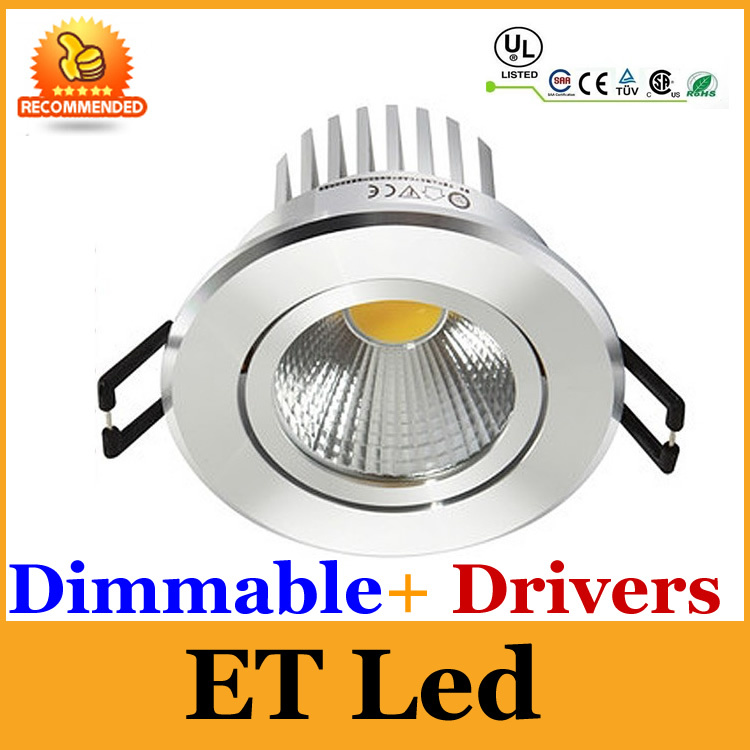 Us 229 0 High Lumen Led Dimmable Downlight 9w 650lm Spot Light Recessed Lamp Bulb 110v 230v For Living Room Ce Rohs Cul In Downlights