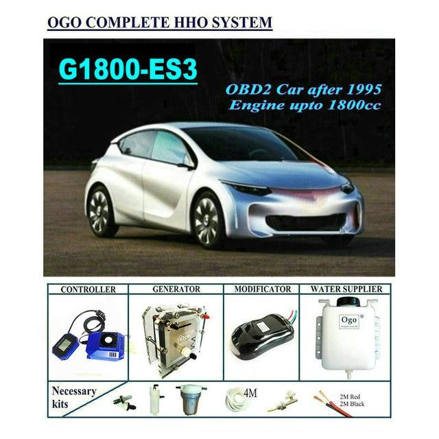 OGO Sistema completo HHO G1800 ES3, CHIP PWM inteligente de hasta 1800CC