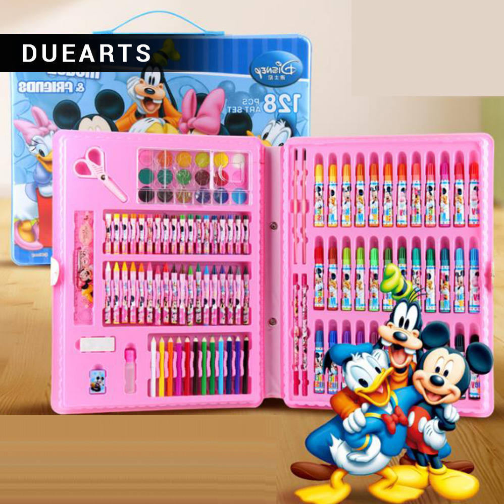 Rushed kit stationery gift primary children birthday tools supplies essential papelaria pens marker painting wj003 hot new rushed kit escolar bolso stationery set gift primary children birthday school tools supplies essential papelaria