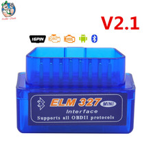 Newest V2.1 Mini ELM327 Auto Scanner ELM 327 Bluetooth Android OBDII V2.1 auto Scan Diagnostic Tool