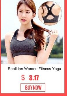 cb380fe5b0 RealLion Body Building Sports Bra Chest Pad Springy Girls Bras Yoga ...
