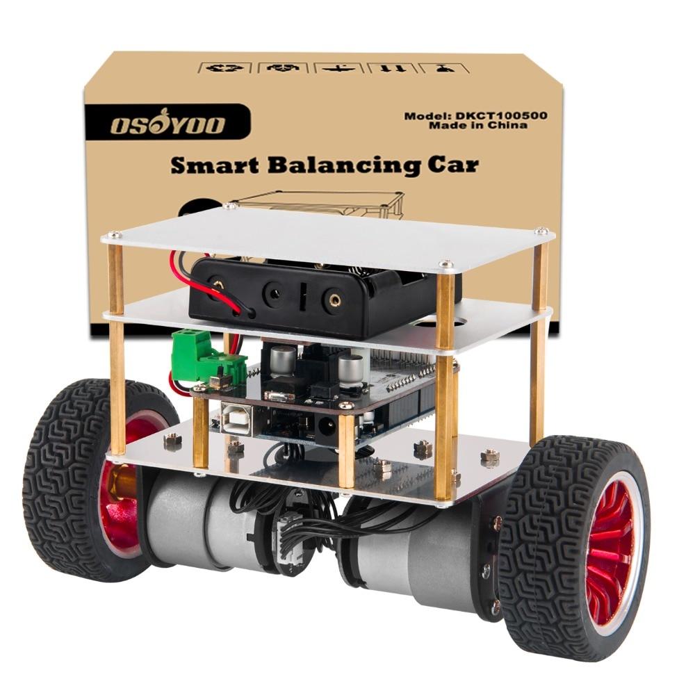 OSOYOO RC Kit de dos ruedas auto Robot de equilibrio para OSOYOO DIY Kit de inicio educativo, Control remoto Bluetooth por Android