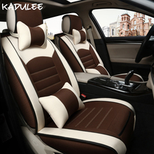 цена на KADULEE Universal car seat cover For peugeot 206 307 407 308 508 406 301 106 205 3008 automobiles car accessories car-styling