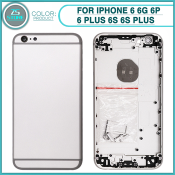 fbfe9cd328e Carcasa trasera para iPhone 6 6 S 6 Plus 6 S Plus batería cubierta trasera  puerta