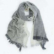 Мужская и женская Омбре шаль весна лето хлопок смесь градиент шарфы хиджаб повседневные мужские шарфы Crinkle Global Scarf VP3012