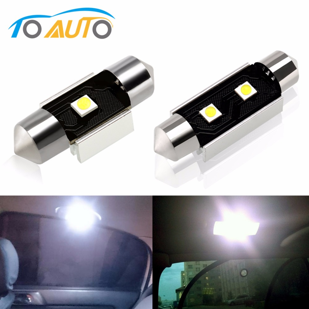 Automobiles & Motorcycles 1x T10 1 Led Cob W5w 5w5 License Plate Maker Parking Car Door Clearance Wedge Light Dome Festoon C5w C10w 12v Fit For Ford Car Lights