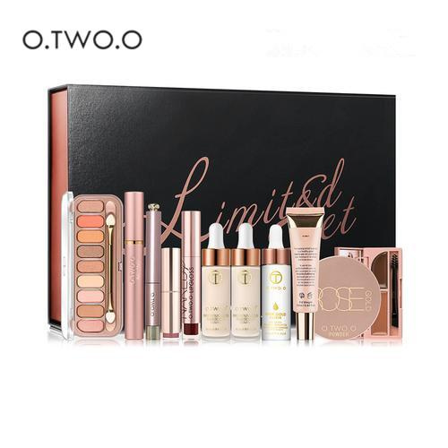 цена O.TWO.O 11 Pcs/Kit Makeup Set Foundation Eye Shadow Lipstick Pen Eyeliner Mascara Lip Gloss Ladies Makeup Kit Gift