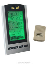 Wholesale prices Free shipping wireless Weather Station, wireless thermometer with Outdoor Temperature and humidity sensor LCD display, Barometer