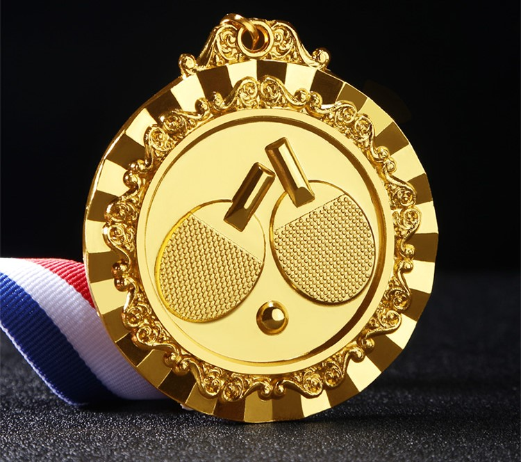 High Quality!new Style Competitions Medal Ping Pong Ball Medal Table Tennis Racket Medal,Free Shipping!