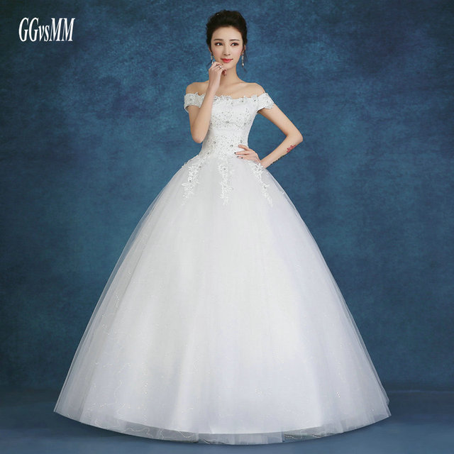 Aliexpress Buy Sexy Wedding Gowns For Bride Dresses Long White