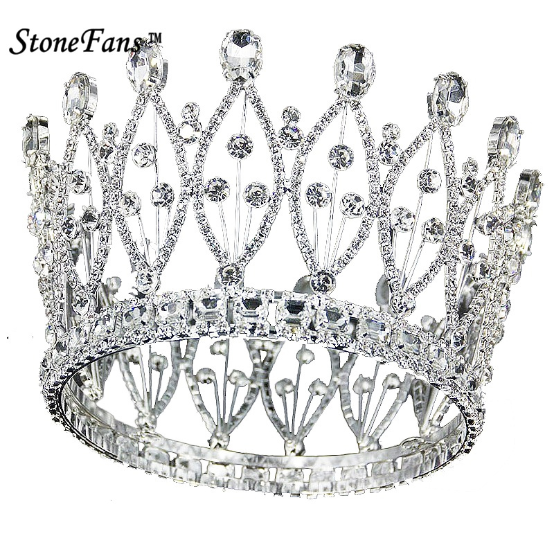 StoneFans European CZ Crown And Tiara For Women Clear Crystal Leaf Plant Wedding Hair Accessories Anniversary Jewelry Women H038StoneFans European CZ Crown And Tiara For Women Clear Crystal Leaf Plant Wedding Hair Accessories Anniversary Jewelry Women H038