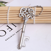50pcs Retro Wine Bottle Opener With Key Chain Party Wedding Favour Bar Accessories